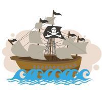 Торт корабли, пираты
