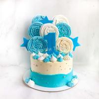 торт на 1 год с цифрой
