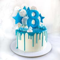 Торт №8 - Белый с цифрой