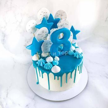 торт мальчику на 8 лет