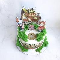 торт с Мейбл из графити фолз