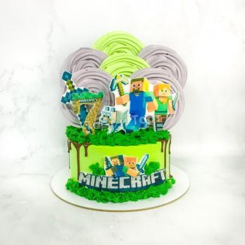 Торт №16 - Майнкрафт