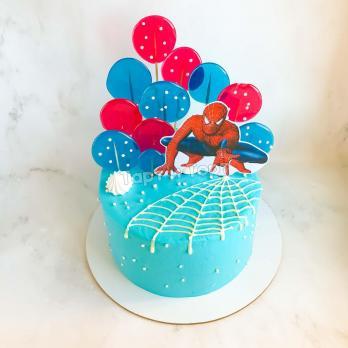 торт мальчику с супергероями на 5 лет