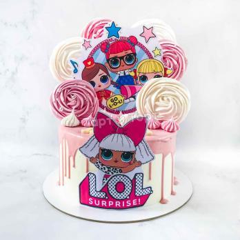торт с куклами лол