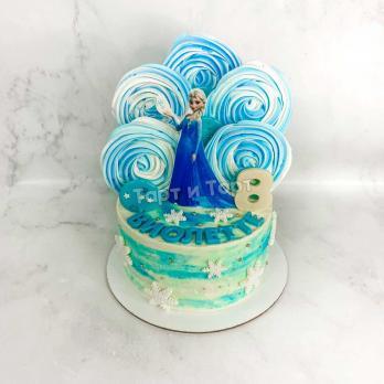 Торт №31 - Эльза со снежинкой Холодное сердце