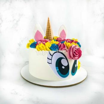 Торт №33 - Единорожка с глазками