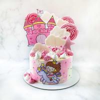 Торт для девочки - Замок и принцесса