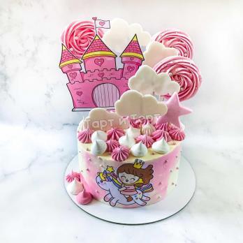 торт с единорогом девочке