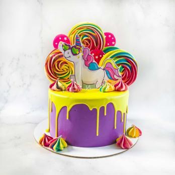 торт девочке с единорогом