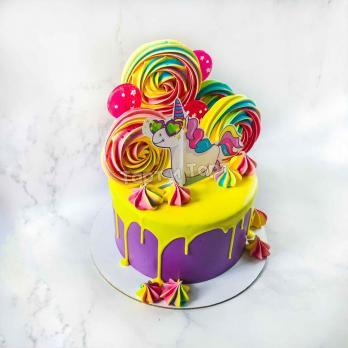 Торт №35 - Единорожка в очках
