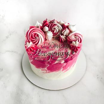 торт розовый на заказ