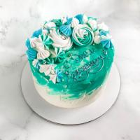 голубой торт на заказ