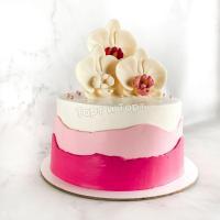 торт с цветами женщине