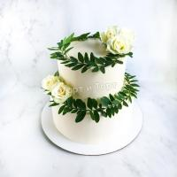 Торт 64 - Свадебный с цветами на заказ