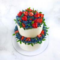 Торт 66 - Свадебный белый с ягодами