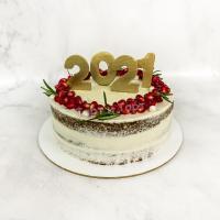 Торт №111 - Новогодний с гранатом