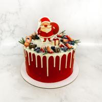 Торт №113 -  Новогодний с Дедом Морозом