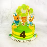 Торт №129 - Три кота с леденцами