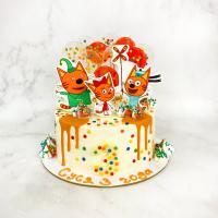 Торт №130 - Три кота конфетти