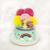 Торт №181 - С единорогом и радугой