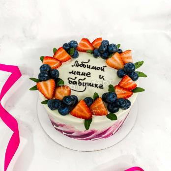 торт с ягодами бабушке