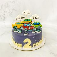 торт мальчику с машинками на 2 года