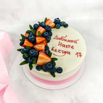 торт на 17 лет