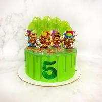 Торт №190 - С маленькими черепашками-ниндзя