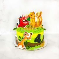 торт король лев на 4