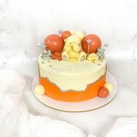 торт с мишкой и шарами