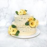 Торт 239 - Свадебный с розами купить в СПБ