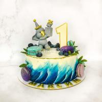 торт мальчику со слоником