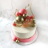 Торт №247 - С вазой из карамели и шарами