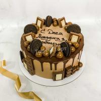 Торт №252 - С шоколадками и надписью