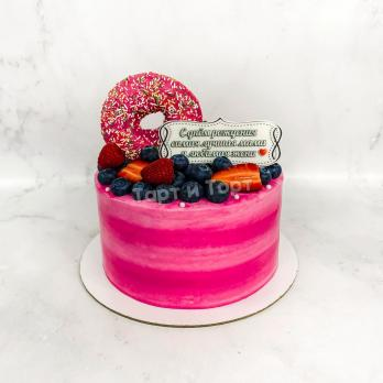 розовый торт девушке