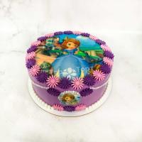 торт девочке с принцессой