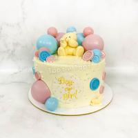 Торт №280 - Мальчик или девочка с мишкой
