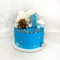 торт с мишкой мальчику на год