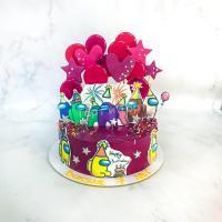 торт амонг ас мальчику на день рождения