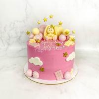Торт №322 - С золотыми звёздочками и зайкой