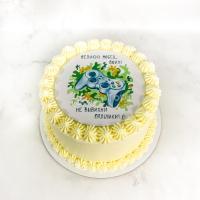 Торт №340 - Блин на 23 февраля с джойстиком