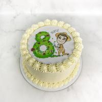 Торт №341 - Блин с садовником на 8 марта
