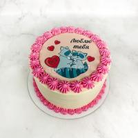 Торт 349 - Фотопечать влюбленные еноты