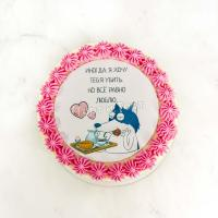 Торт 356 - Фотопечать с фразой про любовь