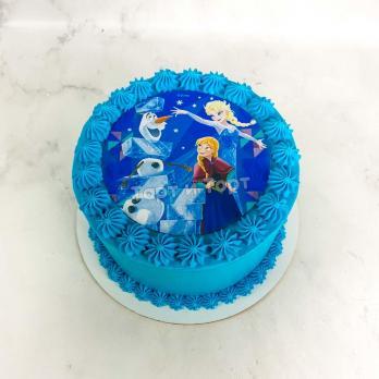 торт с эльзой из холодного сердца