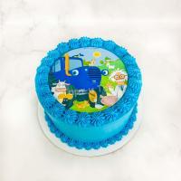 Торт 378 - Фотопечать Синий трактор