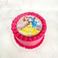 торт девочке с принцессами