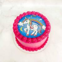 Торт №404 - Фотопечать единорог и радуга