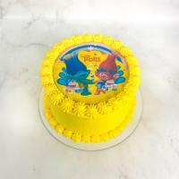 Торт №438 - Тролли желтый