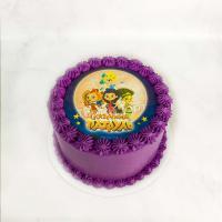 Торт №443 - Сказочный Патруль фиолетовый